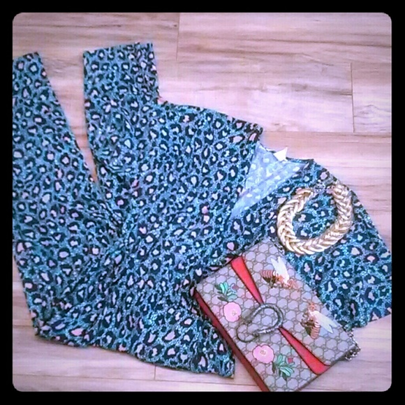 H&M Pants - Leopard print jumpsuit